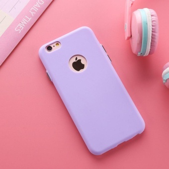 TPU Silicon Candy Style Soft Case Cover for Iphone 6 (Violet)