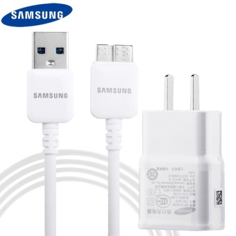Travel / Home Quick Charger For Samsung Galaxy Note 3 / (N9500)with USB 3.0 Cable (White)