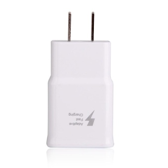 Travel / Home Quick Charger For Samsung Galaxy S5 (i9600),note3with USB 3.0 Cable (White)-note 3 chager - 3