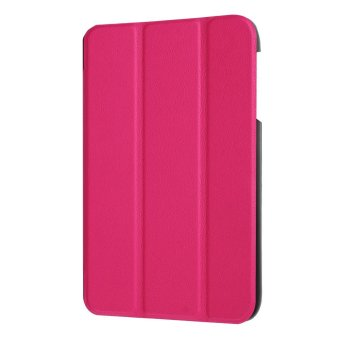 Tri-fold Leather Stand Cover Case for Acer Iconia One 7 B1-770 -Rose - intl - 4