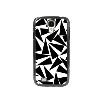 Triangle Pattern Phone Case for Samsung Galaxy S4 (Black)