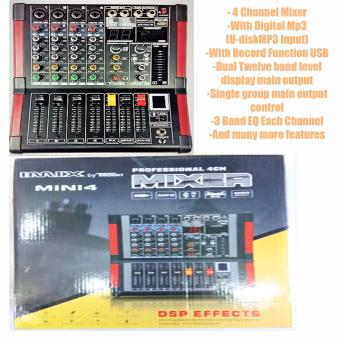 Trident IMIX MINI4 Professional 4-Channel Mixer (Black)