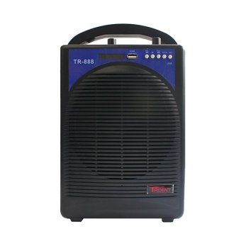 Trident TR-888 Rechargeable Portable Wireless Amplifier with Radio (Black)