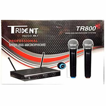 Trident TR800 Wireless Dual Microphone System (Black)