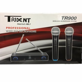 Trident TR900 Wireless Dual Microphone System (Black)