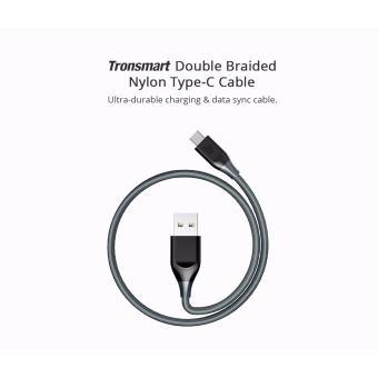 Tronsmart ATC5 Double Braided Nylon USB-C to USB-A Kevlar FiberCable Grey Price Philippines