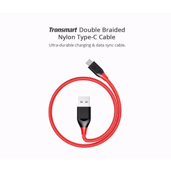 Tronsmart ATC5 Double Braided Nylon USB-C to USB-A Kevlar FiberCable Red Price Philippines