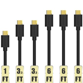 Tronsmart MUPP8 20AWG Premium Micro USB Cable Set of 6 (Black)
