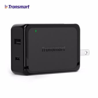 Tronsmart W2PTE US 2-Port USB Wall Type-C Charger with Quick Charge3.0 High-Speed & VoltIQ (Black)