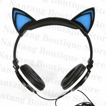 TTLIFE The Fashion Foldable Flashing Glowing cat ear headphonesGaming Headset Earphone with LED light For PC Laptop ComputerMobile Phone(green) - 3