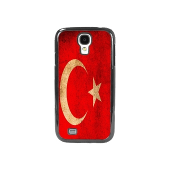 Turkish Flag Pattern Phone Case for Samsung Galaxy S4(Black)