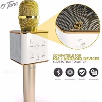 Tuxun Q7 Portable Rechargeable Wireless Bluetooth SpeakerMicrophone Mic With Free Vivo In-Ear Wired Headset Earphone (White)