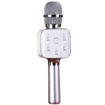 TUXUN Q7 Wireless Bluetooth Microphone & HiFi Speaker (Silver)