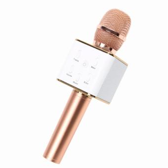 TUXUN Q7 Wireless Bluetooth Microphone & HiFi Speaker(White/Rose Gold))