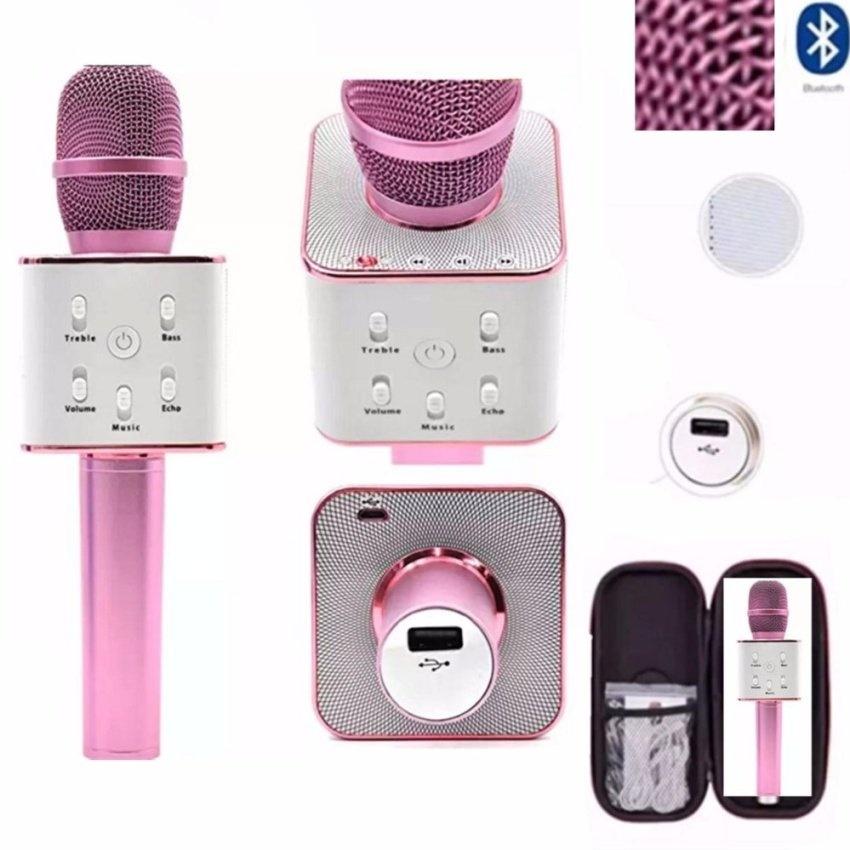 Tuxun Q7 Wireless Ktv Karaoke Microphone Bluetooth Speaker(Pink)