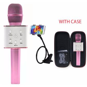 TUXUN Q7 Wireless KTV Karaoke Microphone Bluetooth Speaker(Pink)with Lazypod Color May Vary