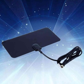 TV Antenna Indoor HDTV DTV Box Flat Design 5dB Gain supportsUHF/VHF signals - intl
