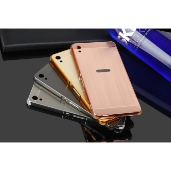 TY Metal Bumper Wire Drawing Back Case Cover For Sony Xperia XAUltra (