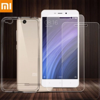 Tylex Tempered Glass & Jelly Case For Xiaomi Redmi 4A (Clear)