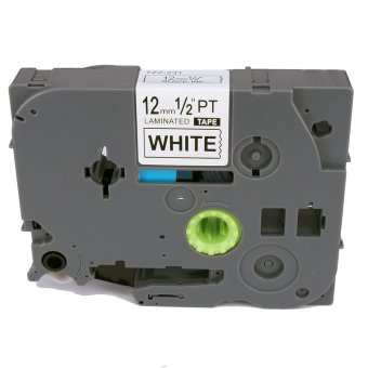 TZe231 Label Tape Compatible for Brother TZe-231 TZ-231 TZ231 Blackon White (1/2inch 12mm) x 8m