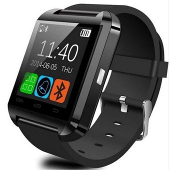 U8 Bluetooth Android Smart Mobile Phone Wrist Watch (Black)