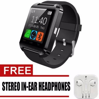 U8 Bluetooth Android Smart Mobile Phone Wrist Watch (Black)WithFree Headset(White)