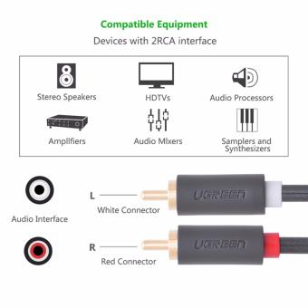 UGREEN 2RCA Male to 2RCA Male Stereo Audio Cable (3m) - 3