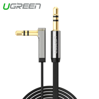 UGREEN 3.5mm Auxiliary Stereo Audio Cable 90 Degree Right Angle(0.5m) Black - Intl