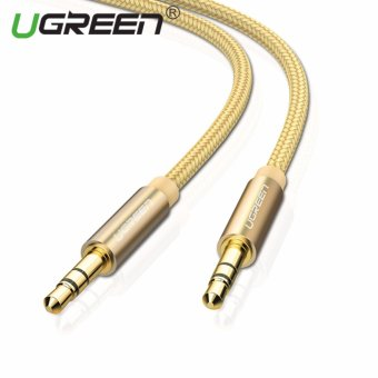 UGREEN 3.5mm to 3.5 mm Jack Aux Cord Gold-Plated Metal ConnectorAudio Cable - 0.5m,Gold - intl