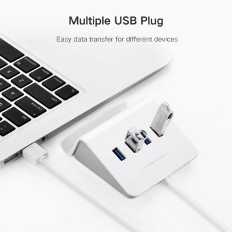 UGREEN 4 Port USB 3.0 Hub 5Gbps SuperSpeed Data Hub with Phone Stand 1m Cable for iMac, MacBook, Macbook Pro, Macbook Air, Mac Mini, Surface Pro, Chromebook and PC - intl - 4