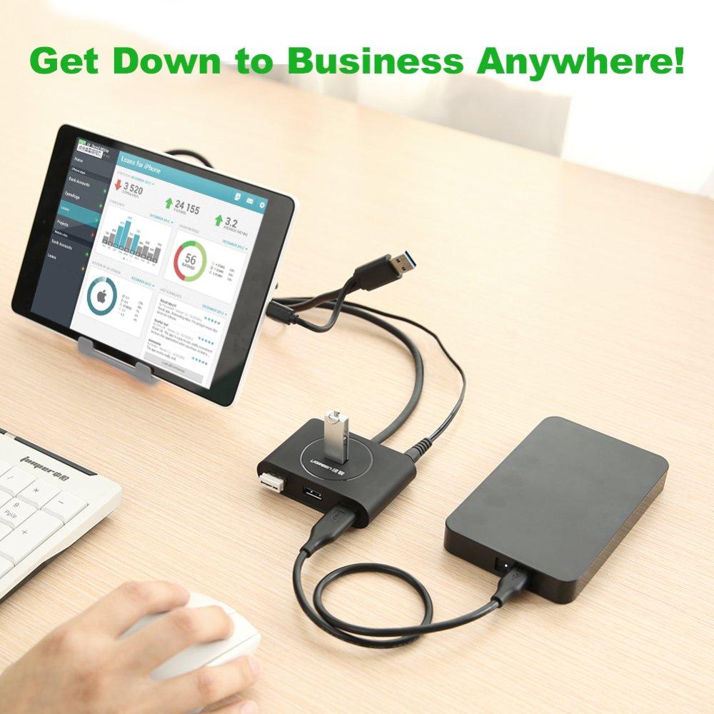 UGREEN 4 Ports Super Speed USB 3.0 HUB with Micro USB 2.0 OTG(Black) ...