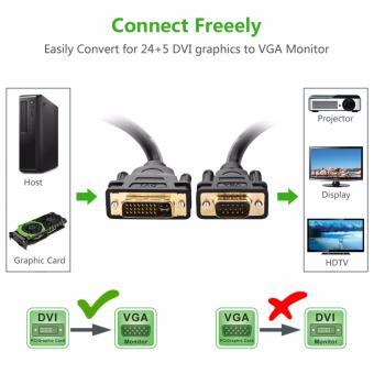 UGREEN DVI-I to VGA Adapter 24+5 DVI Male to VGA Male ConverterDigital Video Cable Cord - 1.5m - intl - 4