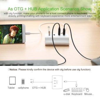 UGREEN Micro USB 4 Port OTG HUB with Phone Stand - 5