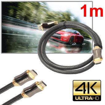 Ultra HD HDMI Cable v2.0 High Speed + Ethernet HDTV 2160p 4K 3DGOLD (1M) - intl - 2