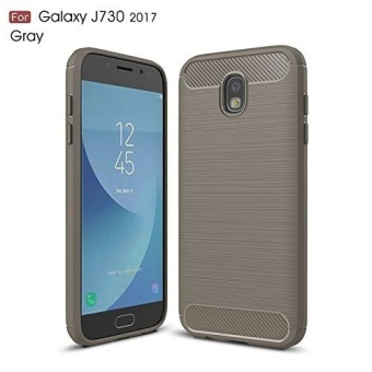 Ultra Light Carbon Fiber Armor ShockProof Brushed Silicone Grip Case for Samsung Galaxy J7 Pro 2017 J730 - intl