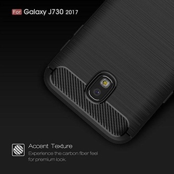 Ultra Light Carbon Fiber Armor ShockProof Brushed Silicone Grip Case for Samsung Galaxy J7 Pro 2017 J730 - intl - 3