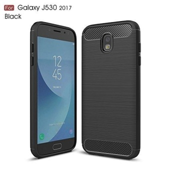 Ultra Light Carbon Fiber Armor ShockProof Brushed Silicone GripCase for Samsung Galaxy J5 Pro 2017 J530 - intl