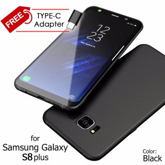 Ultra Slim Anti-Slip TPU Cell Phone Case Cover for Samsung GalaxyS8 Plus (Black)
