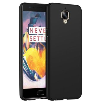 Ultra Slim Fit Shell Hard Plastic Full Protective Anti-Scratch Resistant Cover Case for iPhone OnePlus 3 / OnePlus 3T (Silky Black) - intl