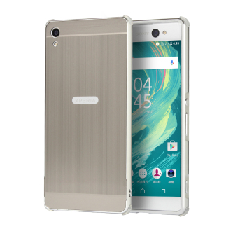 Ultra Slim Metal Frame Bumper Case with Mirror Effect Hard PC BackCover For Sony Xperia XA Ultra (Silver)