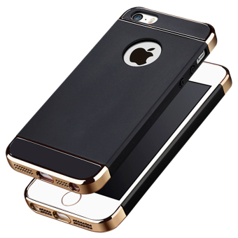 Ultra Thin 3 in 1 Combo Case for Apple iPhone 5 / 5S / SE (Black)