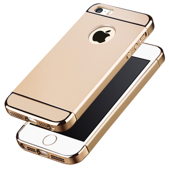 Ultra Thin 3 in 1 Combo Case for Apple iPhone 5 / 5S / SE (Gold)