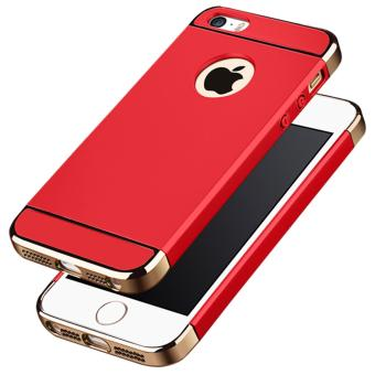 Ultra Thin 3 in 1 Combo Case for Apple iPhone 5 / 5S / SE (Red)