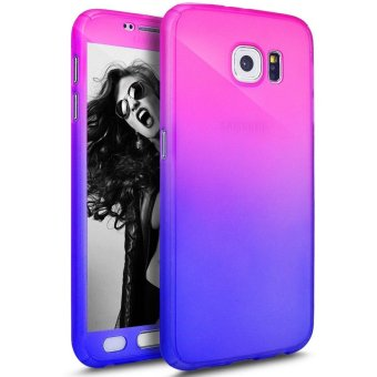 Ultra Thin 360 Degree Full Body Coverage Protection Gradient Ramp Vibrant Colorful PC Hard Slim Case for Samsung Galaxy S7 Edge (Multicolor) - intl Price Philippines