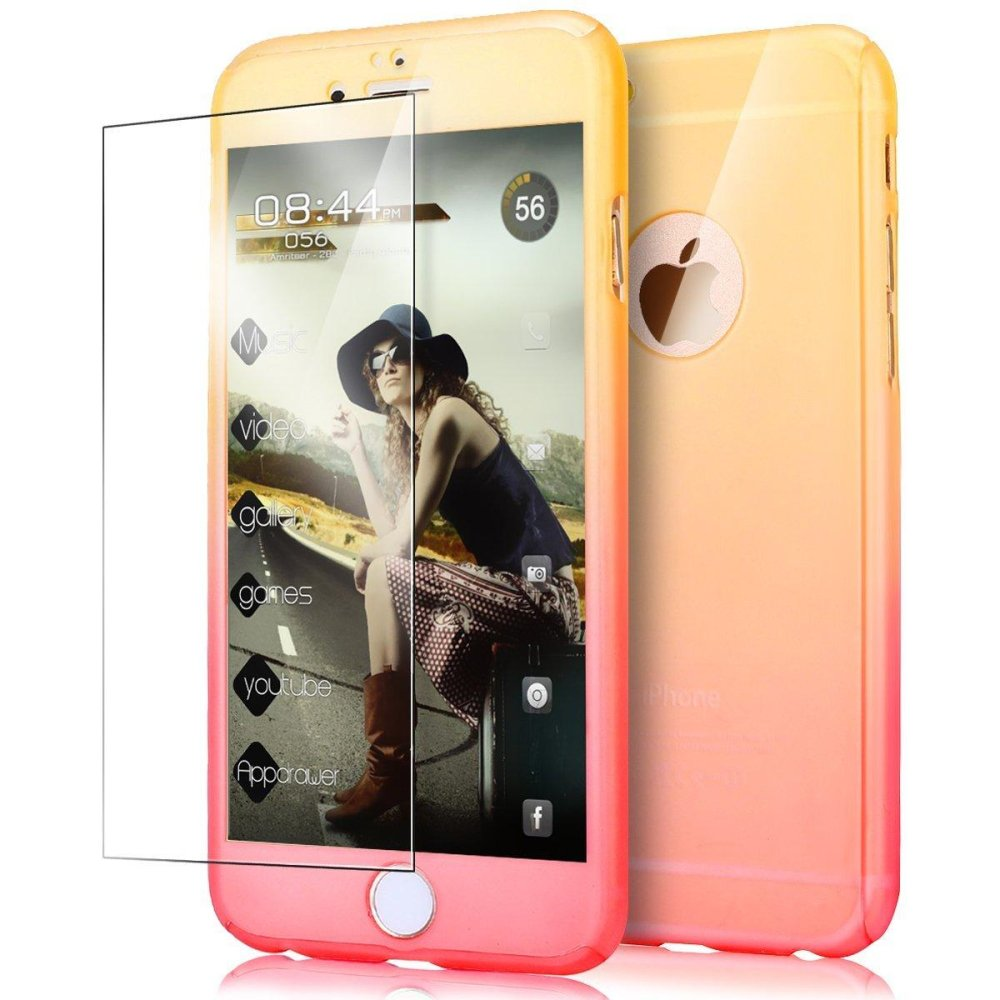 ... Ultra Thin 360 Degree Full Body Coverage Protection Gradient Ramp Vibrant Colorful PC Hard Slim Case ...