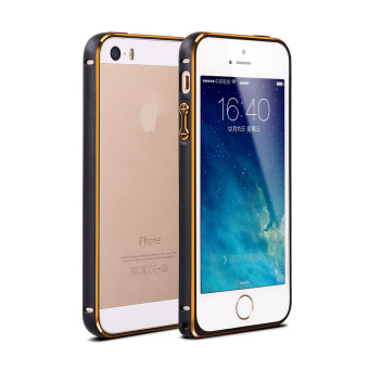 Ultra-thin Aluminum Metal Bumper Case Cover for Apple iPhone 5 / 5S/ SE (Black)