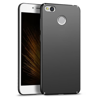 Ultra Thin PC Case For Xiaomi Redmi 4X Hard Shell Cover Anti-SlipMatte Coating Black - intl
