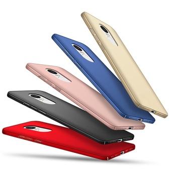Ultra Thin PC Case For Xiaomi Redmi Note 4X Hard Shell CoverAnti-Slip Matte Coating Black - intl - 4