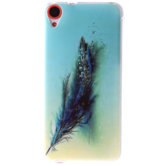 Ultra Thin Soft TPU Phone Back Case Cover For HTC Desire 820 (Feather)