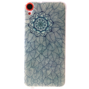 Ultra Thin Soft TPU Phone Back Case Cover For HTC Desire 820 (Flower and Leaves)